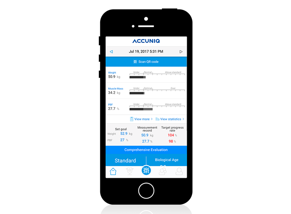 Accuniq Body Composition Analyser App